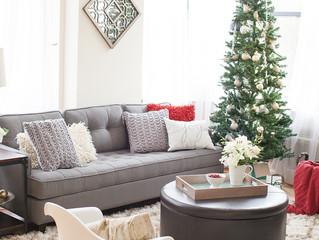 Como fazer uma decoração de natal na sala de apartamento ou casa.