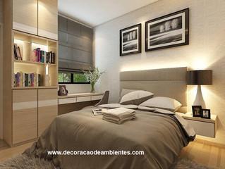 Projeto de Decoração para Quarto de Casal Pequeno a Preço Acessível - J Tagler Design de Interiores