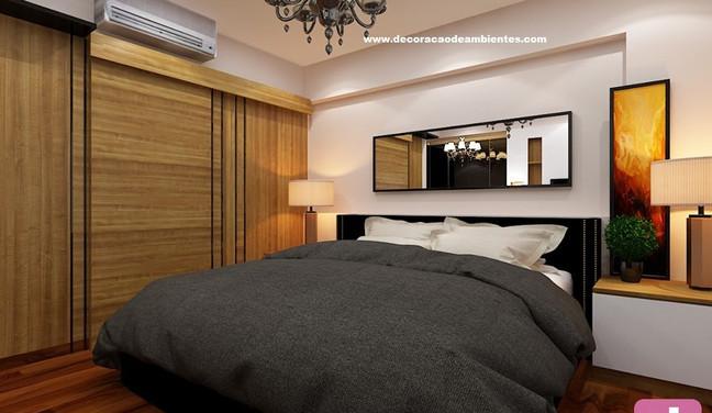 Projeto de decoração para quarto de casal em apartamento pequeno - Ipiranga - São Paulo SP