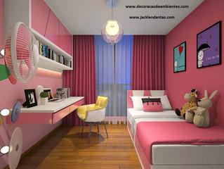 Decoração para quarto pequeno de menina.