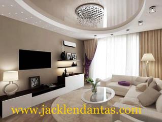 Como decorar uma sala pequena sem gastar muito - Projeto de decoração de sala de estar - TV .