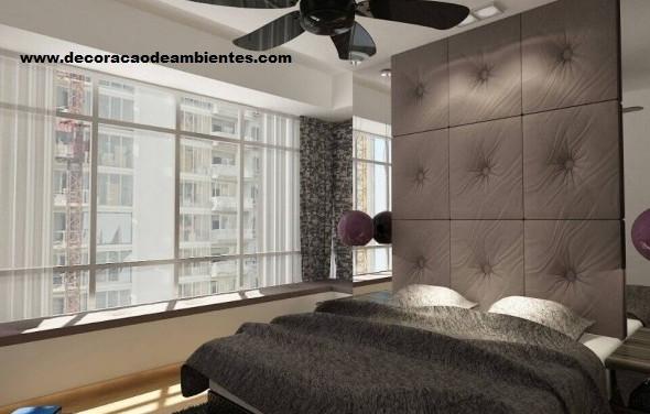 Projeto decoração para quarto de casal em apartamento para temporada
