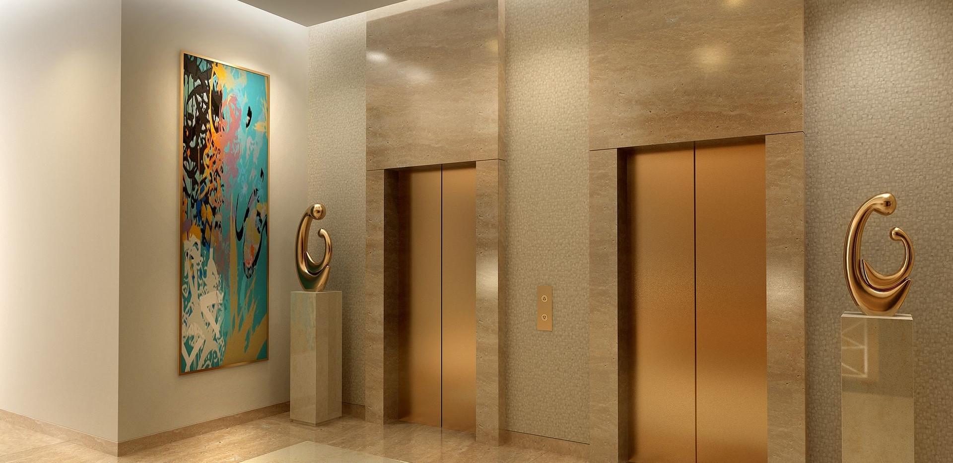 Decorar hall dos elevadores predio comercial