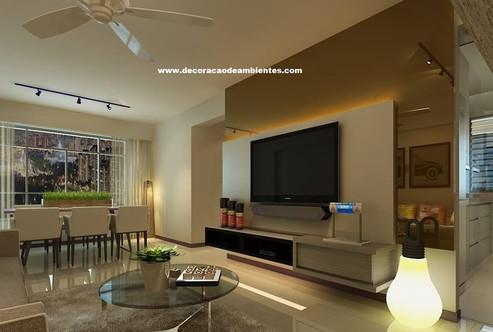 Projeto de decoração de interiores Sala