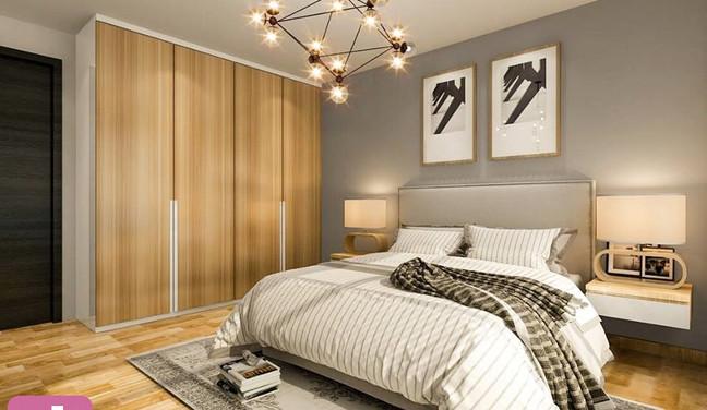 Decoração simples moderna para quarto de casal - Recreio - Rio de Janeiro - RJ