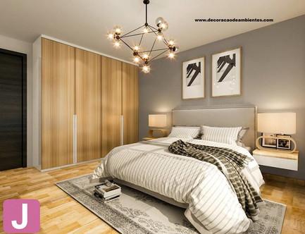 Projeto de decoração de interiores Quarto