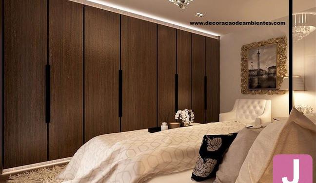 Projeto de decoração estilo neo classico para quarto de casal pequeno em apartamento alugado - Mooca - São Paulo SP
