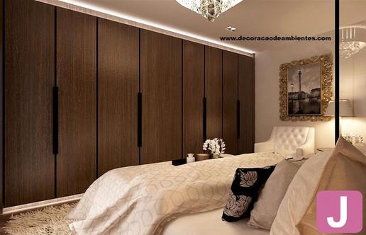 Projeto de decoração de interiores Quarto de casal pequeno