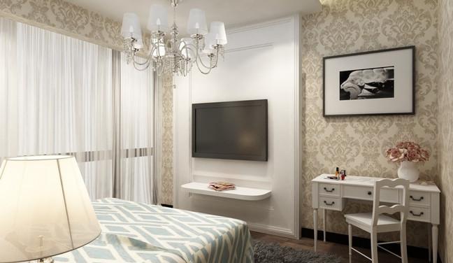 Projeto de decoração neoclassica para quarto de casal pequeno - Aclimação São Paulo SP