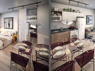 Dicas de como decorar um apartamento conjugado (estudio, kitnet, flat).