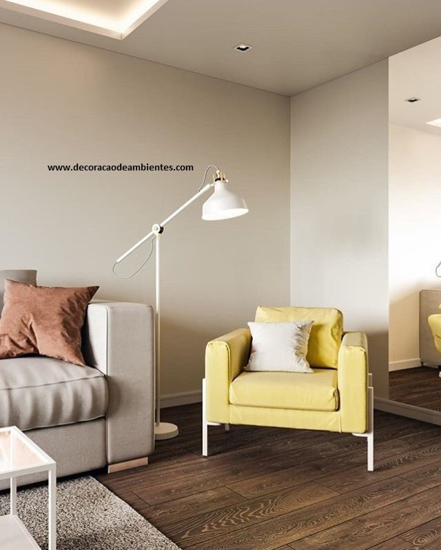 sala de estar TV decorada - apartamento