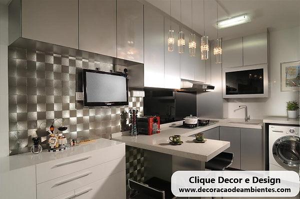 Planejar decorar cozinha pequena sem gas