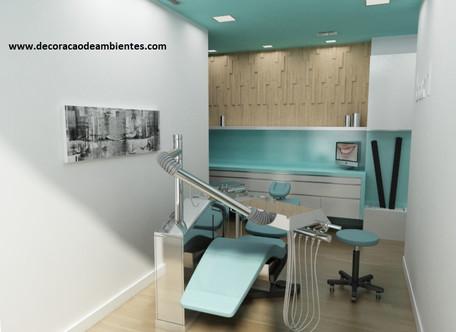 Projeto de decoração de consultorio odontologico dentista