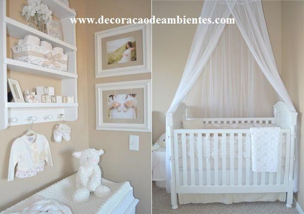 Decoração quarto bebe simples clean