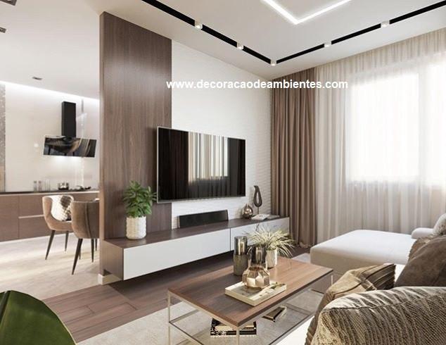Projeto decoração sala de estar