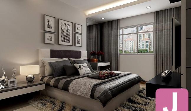 Projeto de decoração para quarto de casal - Moema São Paulo SP