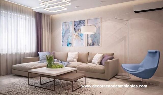 Projeto de decoração de sala - Moema Pássaros - São Paulo SP