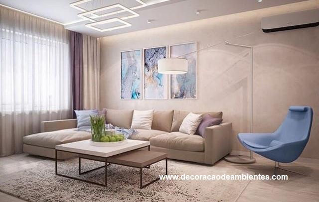 Projeto de decoração para sala de estar