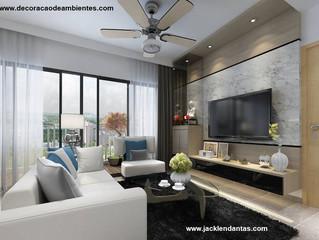 Decoração de Sala Pequena em Apartamento Alugado - J Tagler Design de Interiores RJ
