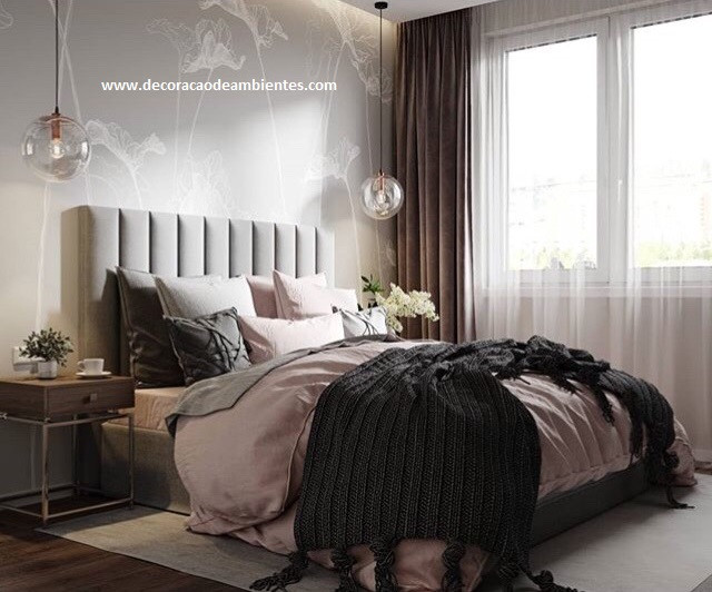 Projeto de decoração para quarto de casal