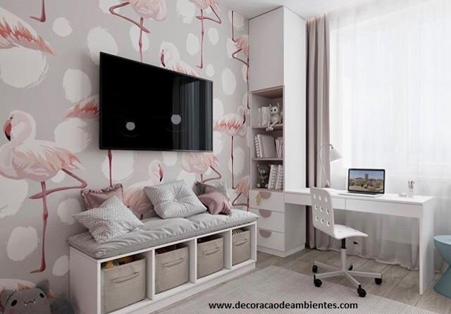 Projeto online de decoração para quarto adolescente