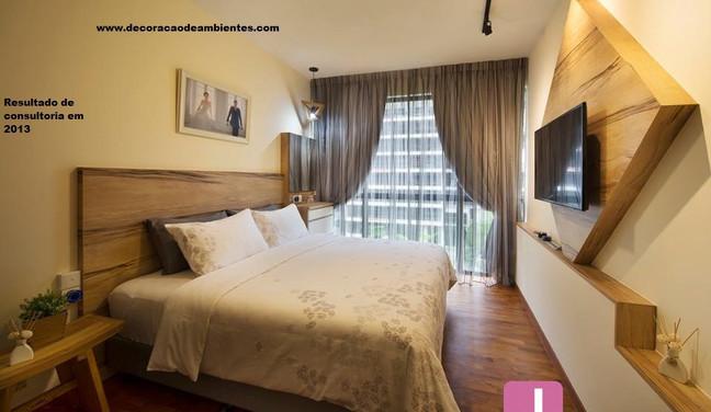Decoração do quarto de casal - Leblon - Rio de Janeiro - RJ