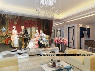 Decoração contemporânea com detalhes clássicos - Você também pode transformar a sala gastando pouco
