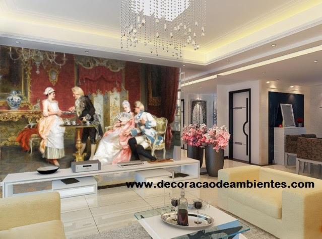 Decoração com elementos clássicos para sala pequena - Copacabana - Rio de Janeiro - RJ