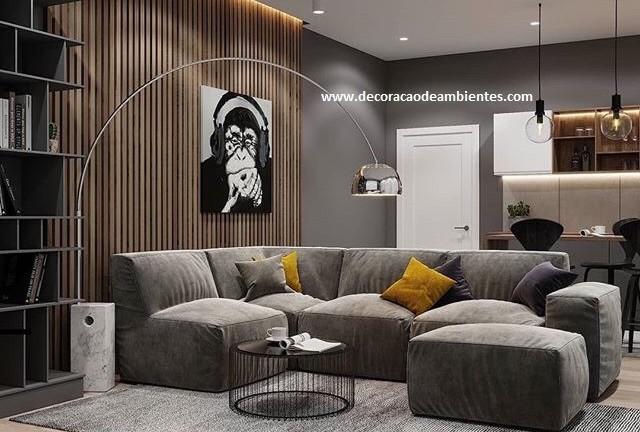 Projeto de decoração para sala de casal jovem - Jardins - São Paulo SP