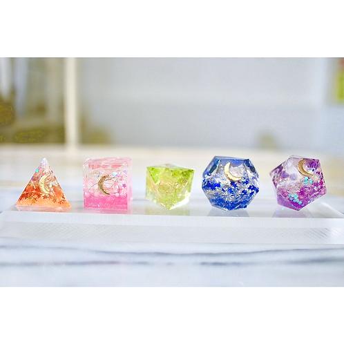 プラトン立体オルゴナイト5種セット