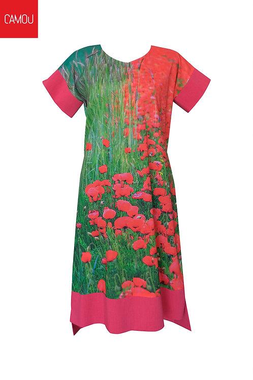 Camou // Pipacsos vászon ruha