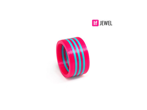 If Jewel // Flag III. gyűrű - pink