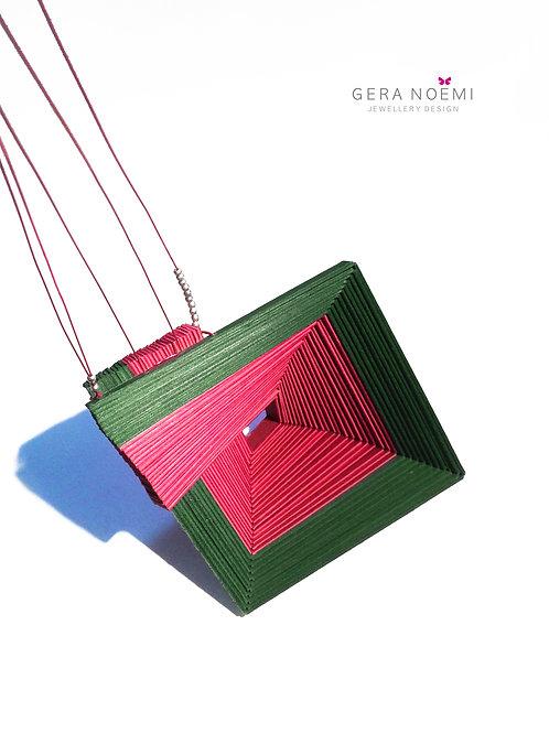 Gera Noémi Jewellery // Négyzetes papír nyakék
