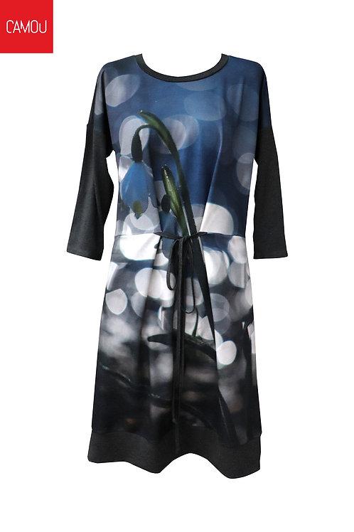 Camou // Hóvirágos ruha (az új verzió fekete aljú)
