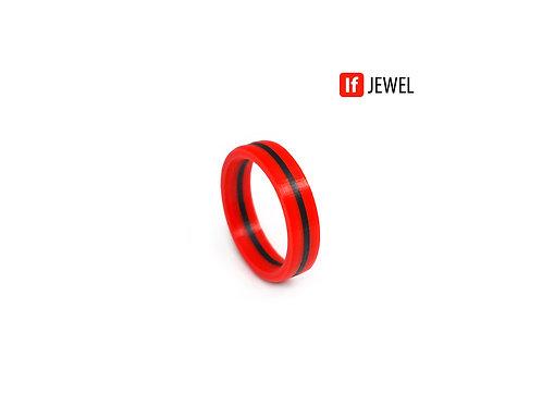 If Jewel // Flag I. gyűrű - piros