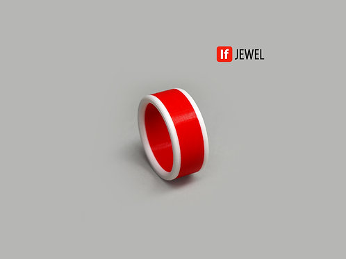 If Jewel // Flag II. gyűrű - piros