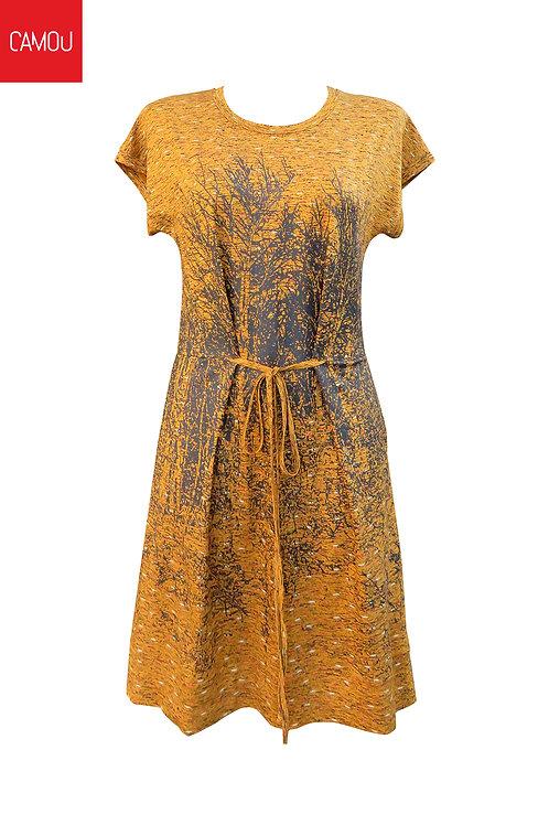 Camou // Szitázott okker ruha