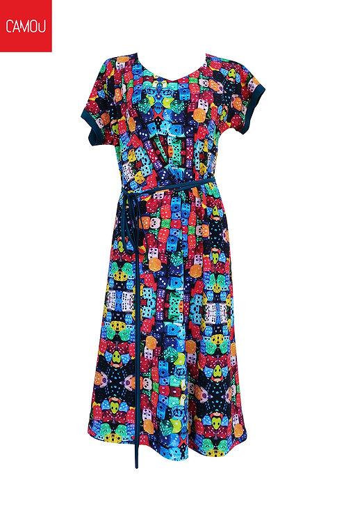 Camou // Viszkóz dobókockás ruha
