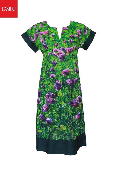 Camou // Mákvirágos vászon ruha