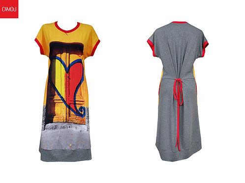 Camou // Viszkóz szív ruha
