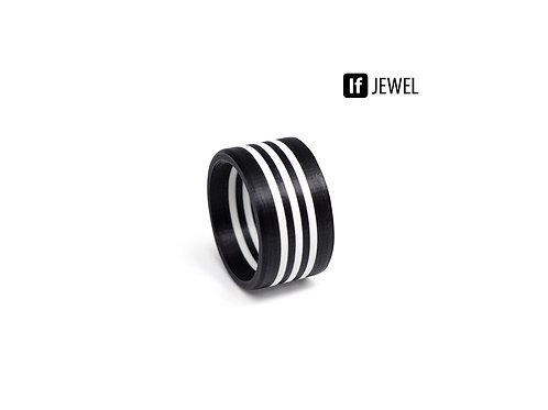 If Jewel // Flag III. gyűrű - fekete