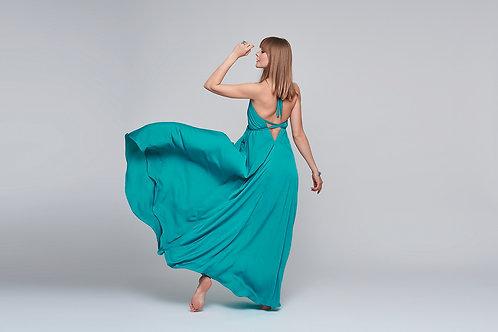Gabo Szerencses // Türkiz maxi ruha