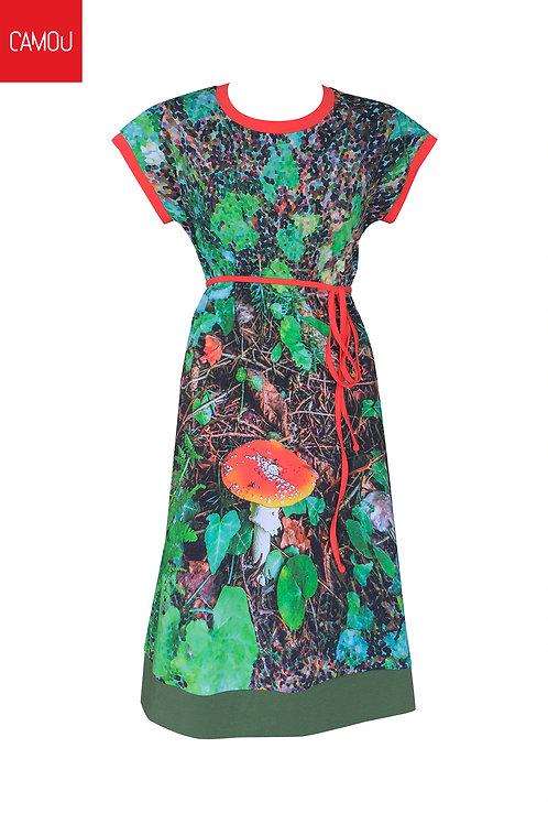Camou // Megkötős gombás ruha