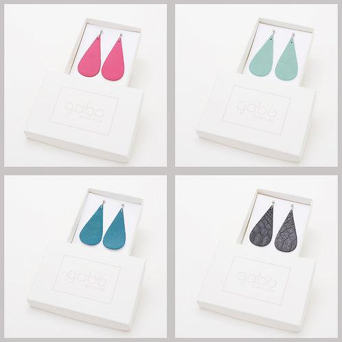Gabo Szerencses // Csepp fülbevalók, Pink,Türkiz és Fekete