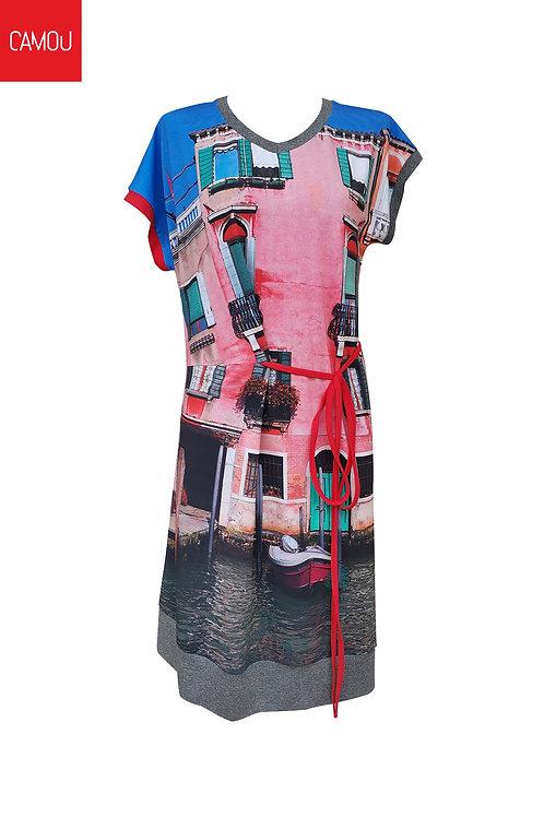 Camou // Viszkóz rózsaszín ház ruha