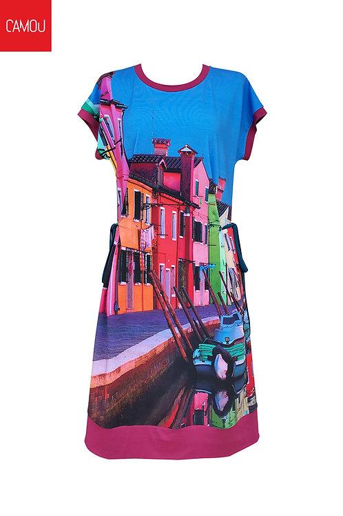 Camou // Viszkóz színes ház ruha