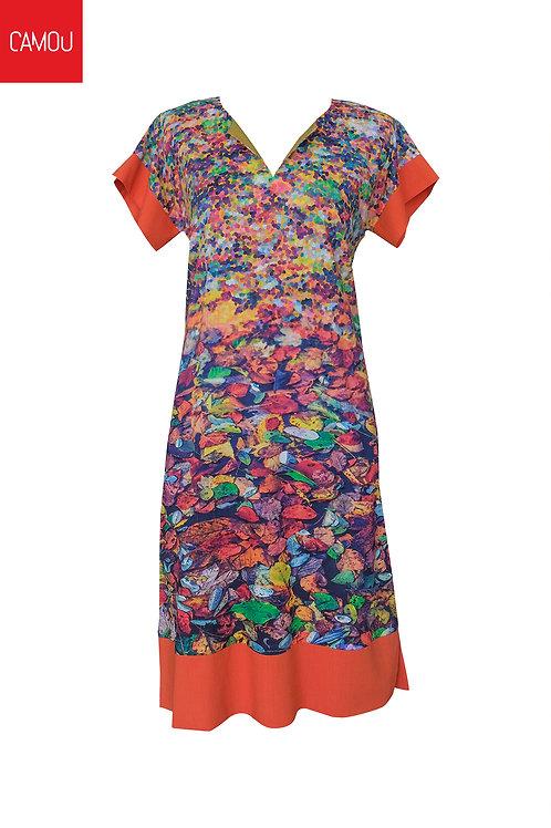 Camou // Őszi faleveles vászon ruha