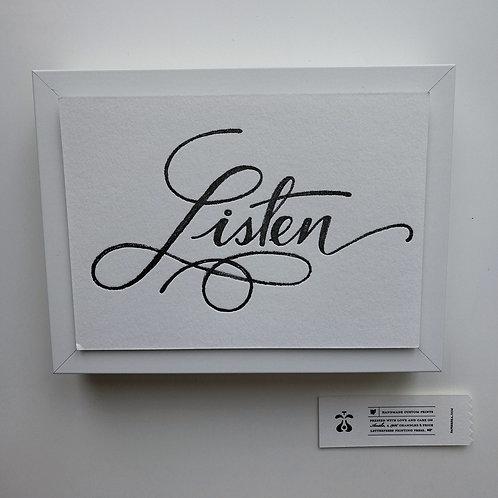 "Paperreka // ""Listen"" Grafika"