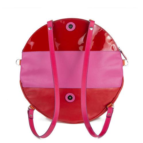 Lengyel Zsuzsi // Nagy kör táska pink-piros lakk