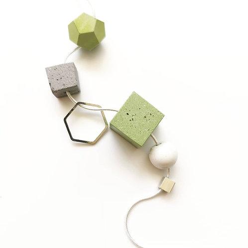 zsanettkincses // Sokelemes nyaklánc lime zöld